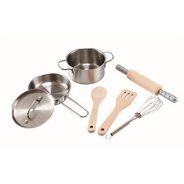 Image of   Legemad Grydesæt Chefs Cooking Set - Hape