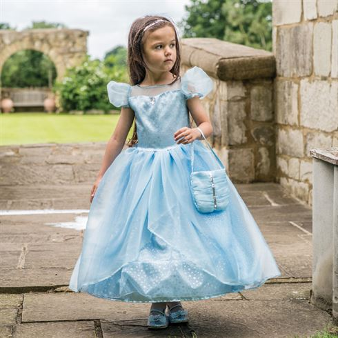 Image of   Prinsesse kostume Blue Shimmer Princess str. 3 - 5 år Travis Designs