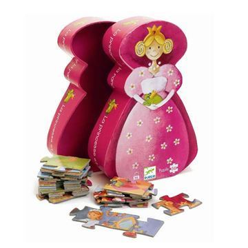 Image of   Silhuetpuslespil Prinsesse fra Djeco