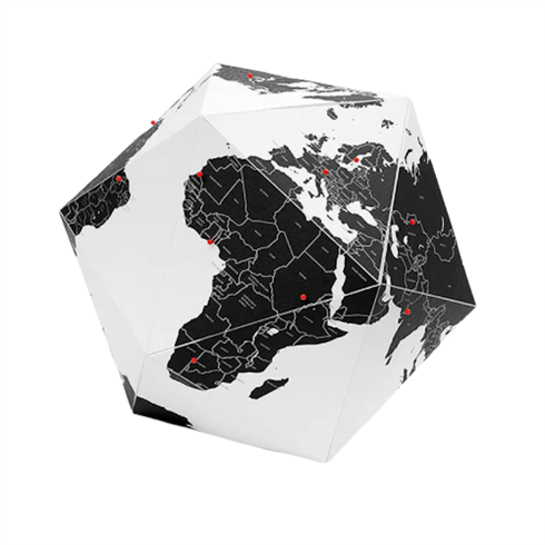 Image of Here Globe - Globus med tegnestifter Lille (PAHECOSM)
