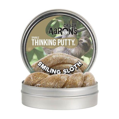 Image of Sparkle Thinking Putty Smiling Sloth Crazy Aaron (CA SM020)