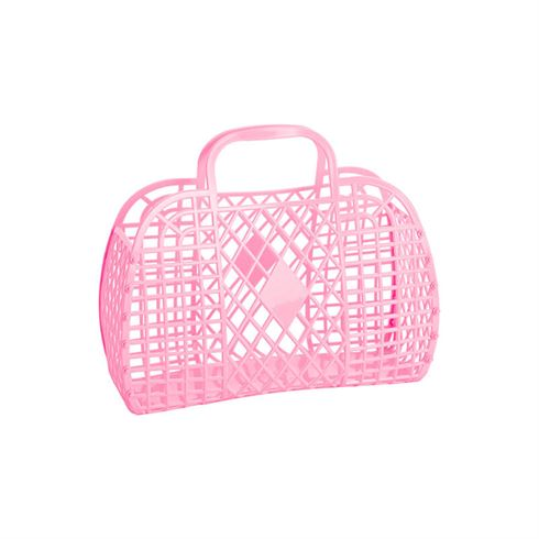 Image of Sun Jellies Retro Basket LARGE - Bubblegum Pink (Retro LARGE Bubblegum)