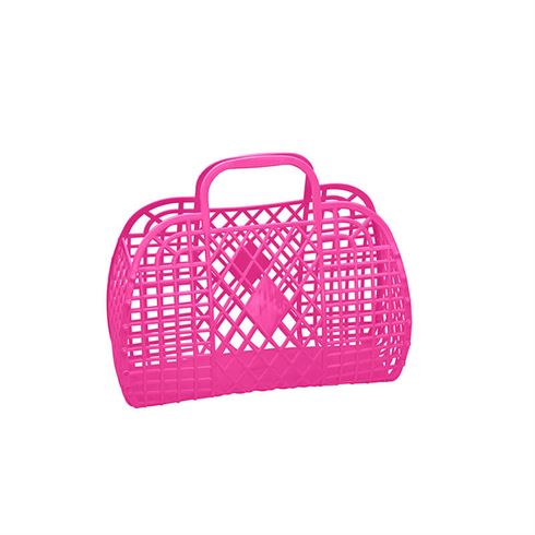 Image of Sun Jellies Retro Basket SMALL - Hot Pink (Retro SMALL Hot Pink)