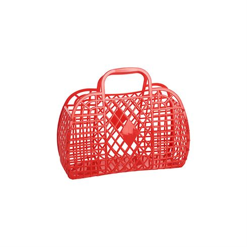 Image of Sun Jellies Retro Basket SMALL - Red (Retro SMALL Red)