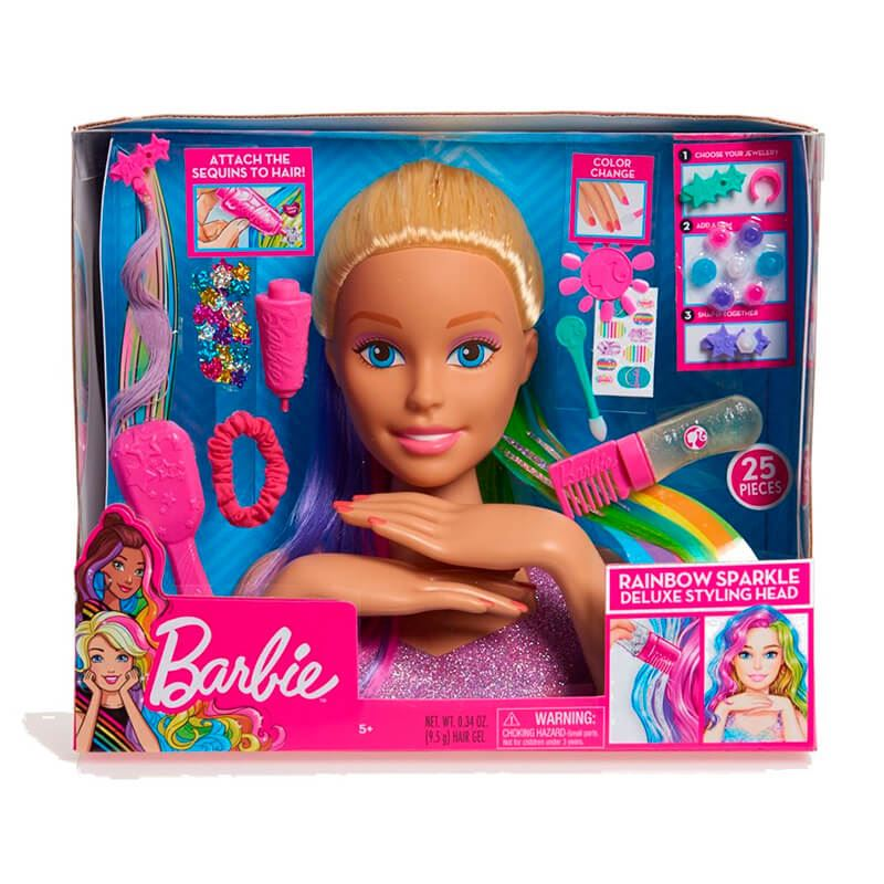 Barbie Frisørhoved Rainbow Deluxe Styling Head