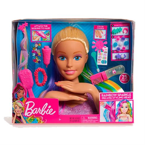 Image of   Barbie Frisørhoved Rainbow Deluxe Styling Head