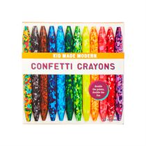 confetti crayons kid made modern