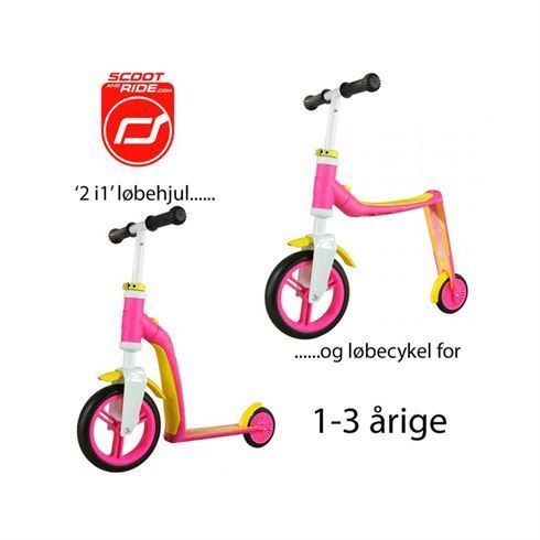 Image of   Løbehjul/løbecykel 2 i 1 Highwaybaby Pink