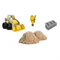 kinetic sand grav og nedriv Dig and demolish