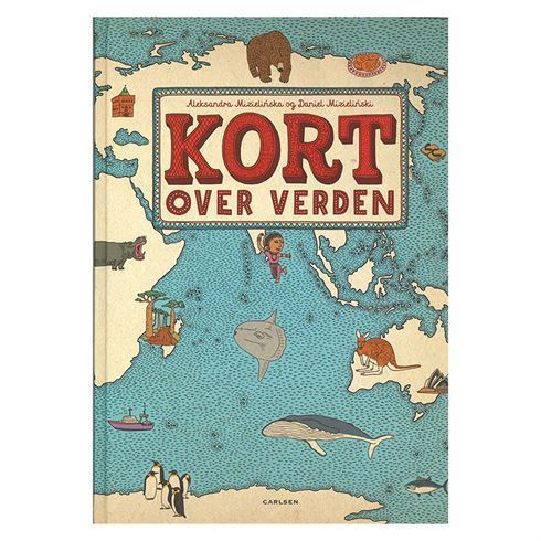Image of Kort over verden - Atlas til børn (Carlsen 9788711326275 Kort over verden)