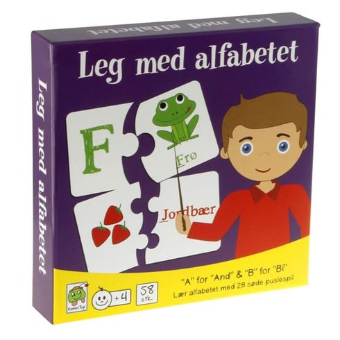 Image of   Leg med alfabetet Barbo Toys
