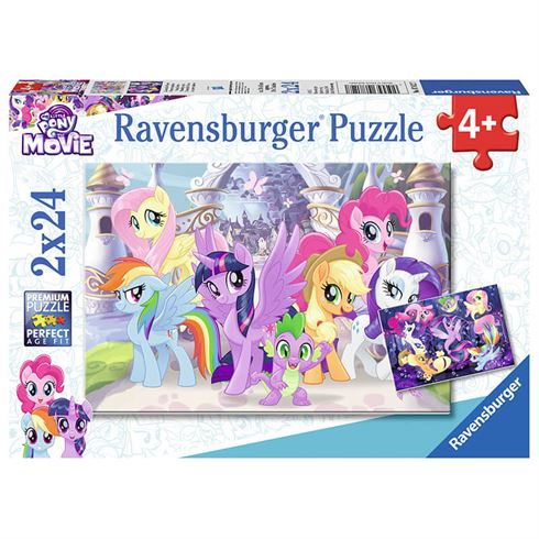 Image of   My Little Pony puslespil 24 brikker - 2 motiver Ravensburger