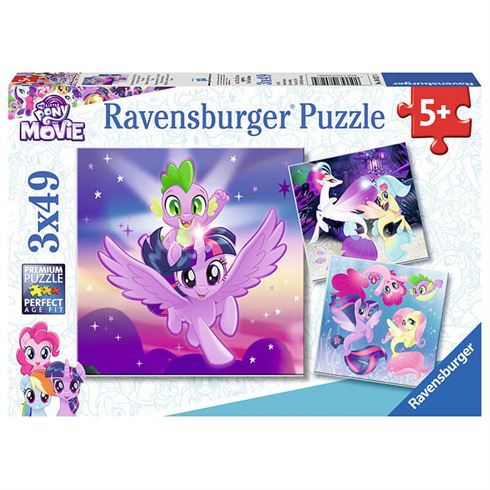 Image of   My Little Pony puslespil 49 brikker - 3 motiver Ravensburger