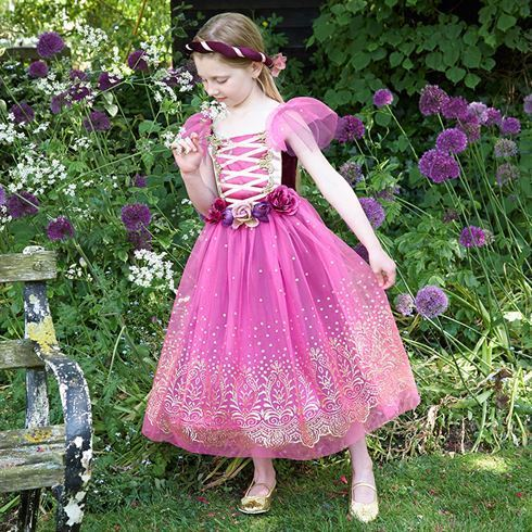 Image of   Prinsesse kostume Plum Princess str. 6 - 8 år Travis Designs
